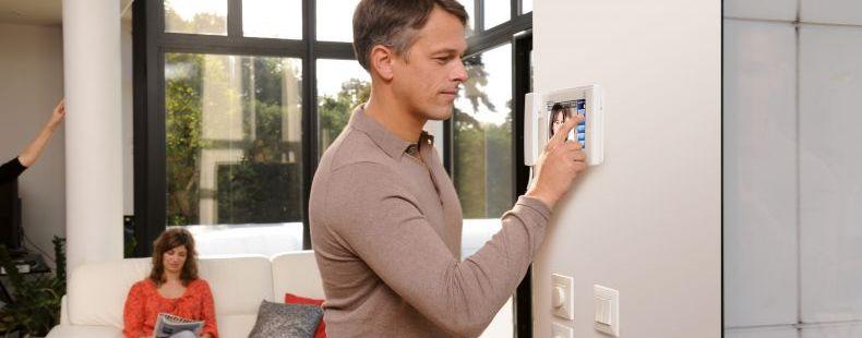 An intercom controls access